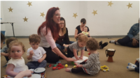 Young children's music program at the WCGR