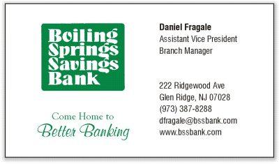 Bolling Springs Bank - Daniel Fragale, AVP