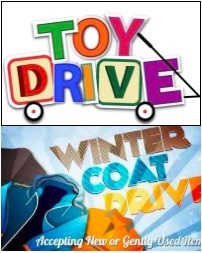 Community Service, toy drive, coat drive