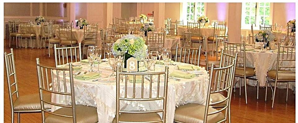 White Wedding at the Women's Club of Glen Ridge