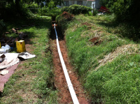 Trenched Pipe