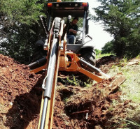 sewer line trenching