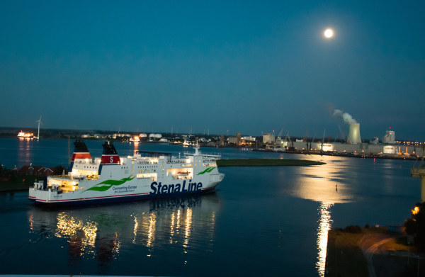 Ferry by the moonlight