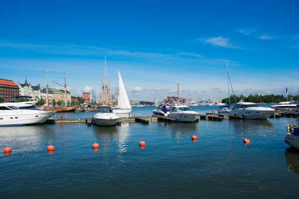Boats in the harbour, Helsinki