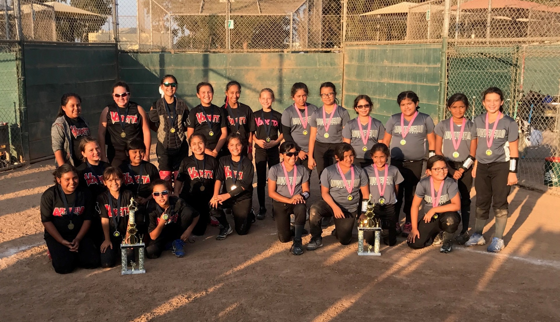 10u 1st Place - Vendetta and Runner Up - Montebello Pride