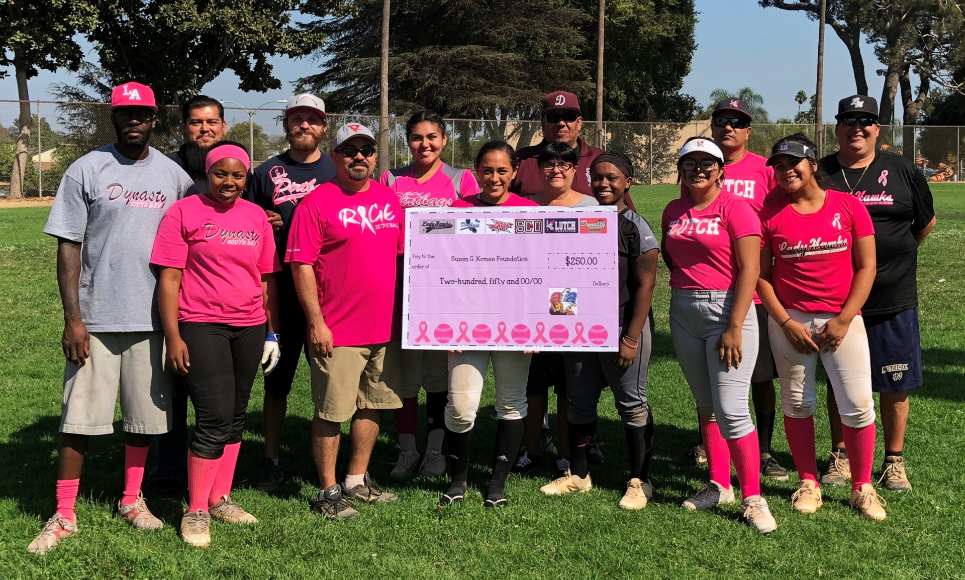 Donation Check to Susan G. Komen Foundation