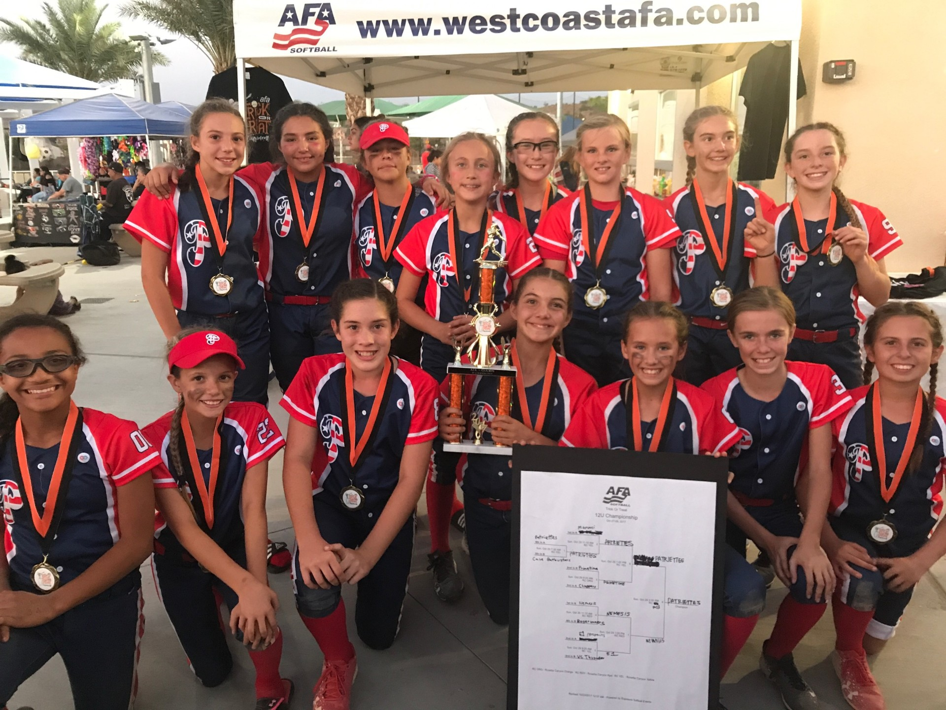 12u 1st place  -  So Cal Patriettes
