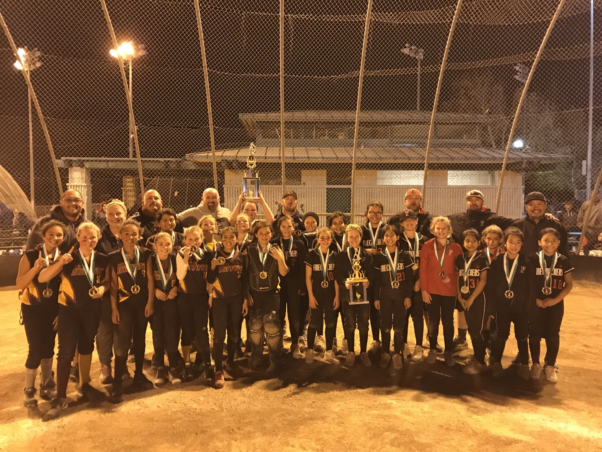 1st Place 10u - So Cal Havoc and Runner Up Firecrackers - Sabo