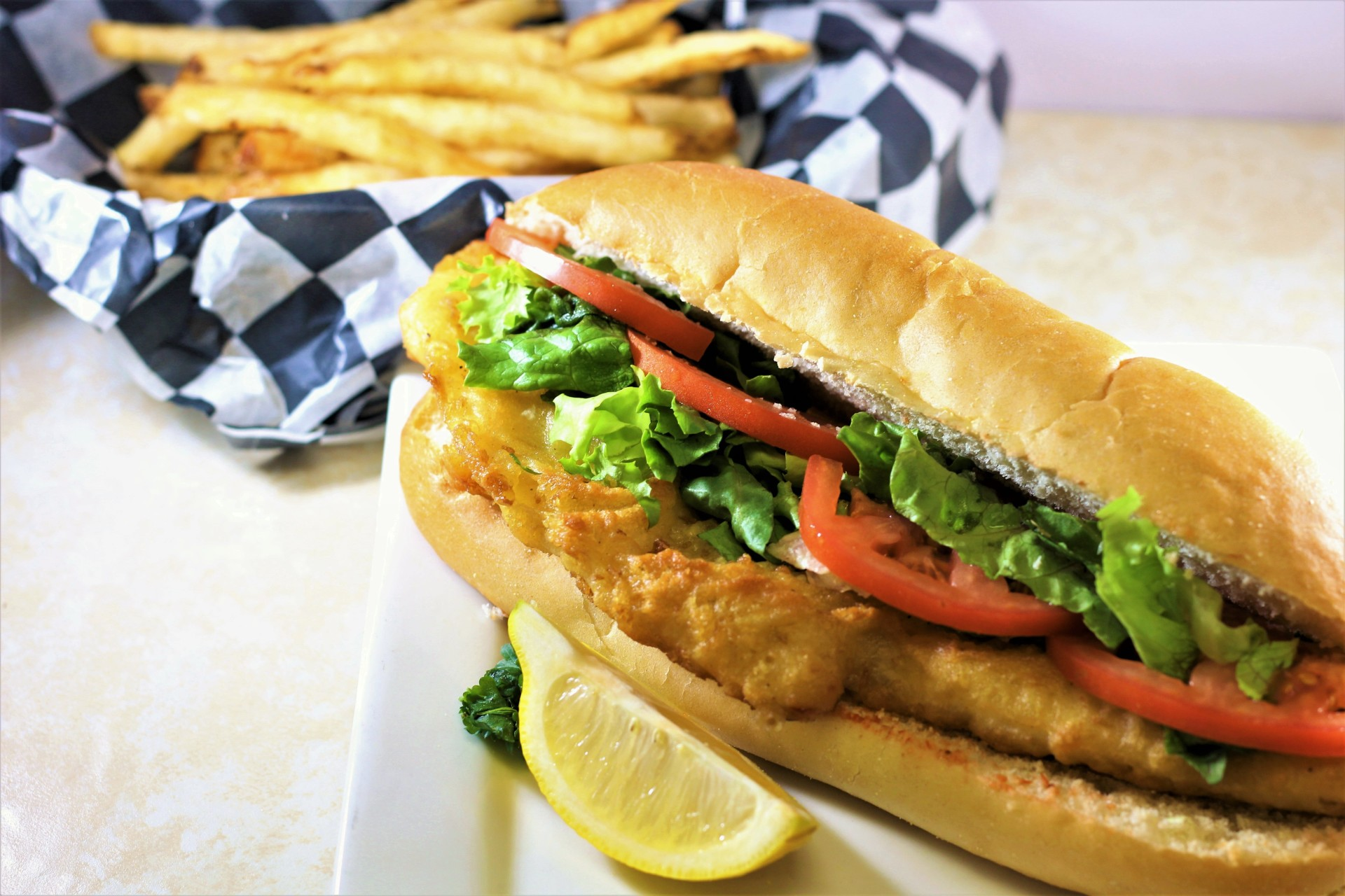 Our Giant Yuengling Beer-Battered Fish Sandwich