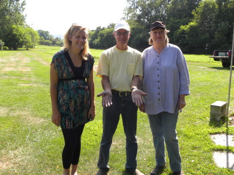 Amanda, Craig, and Mary Barnes of Slate Hill Farm Salem NY