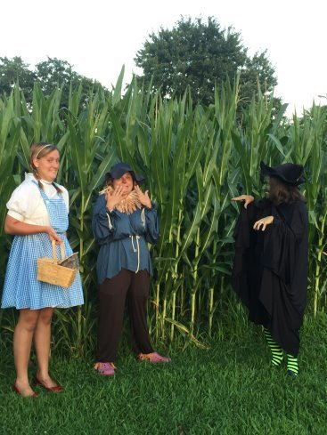 Dorothy, Scarecrow, and the Wicked Witch