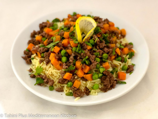 Rice, Ground Beef and Peas