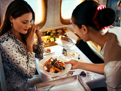 Enjoy gourmet meals with our accommodating attendants