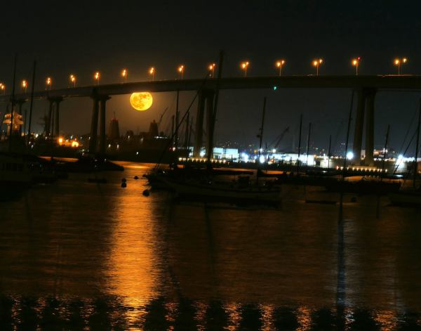 Full Eclipse - as seen under the Coronado Bridge