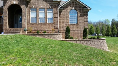 Retaining Wall w/ Landscaping