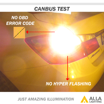 CANBUS Turn Signal Blinker Light LED Bulbs -- Directly plug and play, no hyper flash / load resistor