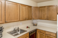 Extended stay furnished apartment kitchen in Williamsport PA