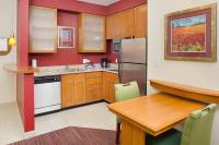 Contemporary Short Term Housing - Residence Inn Kitchen