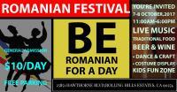 ROMANIAN FESTIVAL   7-8 October,2017