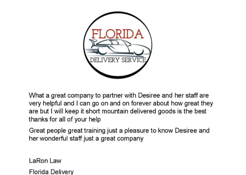 Florida Deliveries