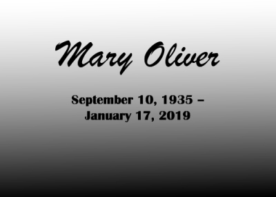 Poet Mary Oliver, 1935-2019