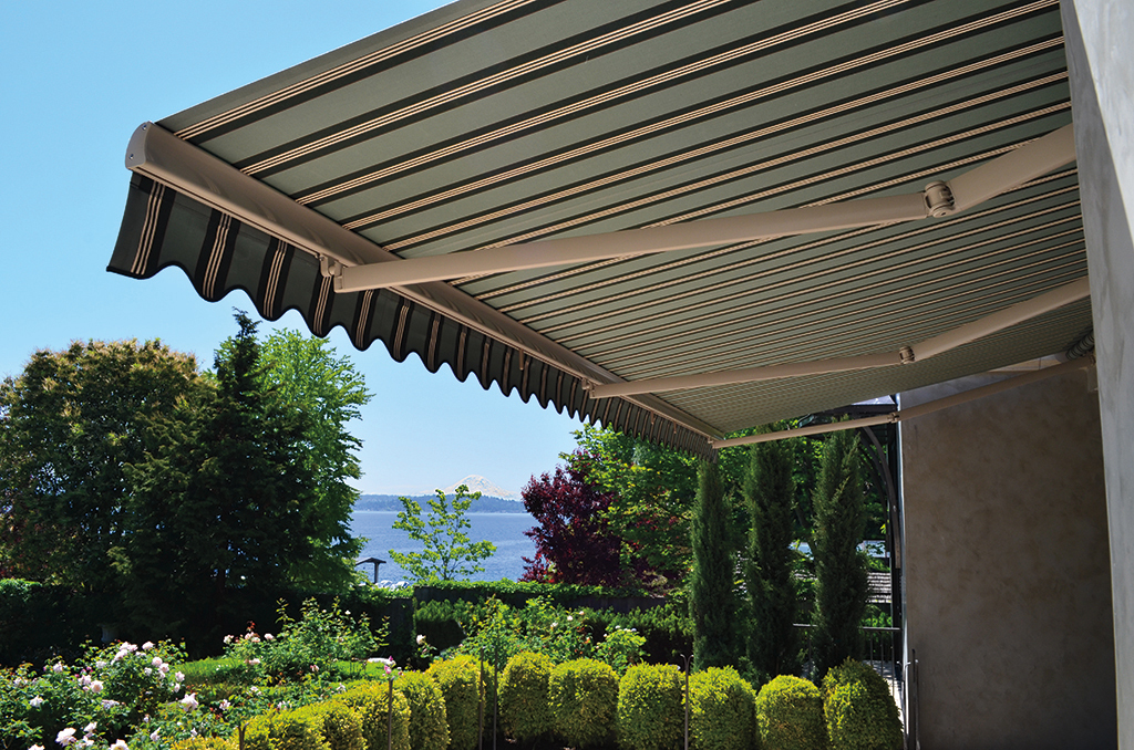 Awnings for Motorized outdoor patio shades