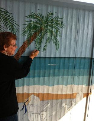 Dana painting mural
