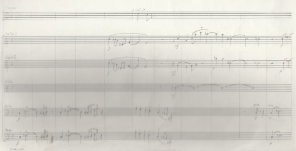 Symphonic works, fragment at the start