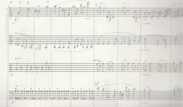 Symphonic works, fragment somewhere in the middle