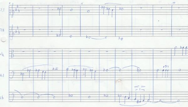 Ensemble, second bit of the sheet