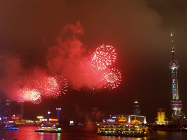 Fireworks on the Bund