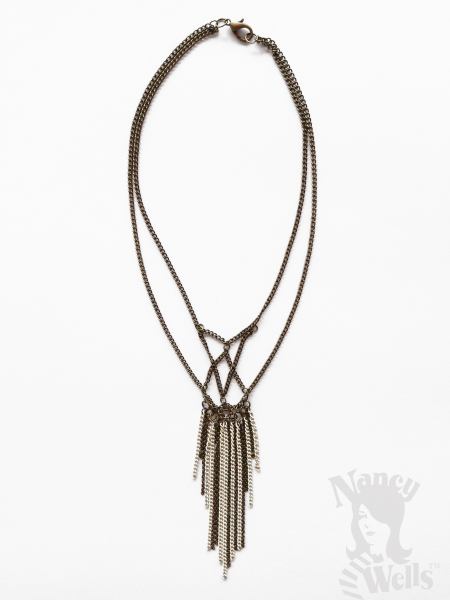 Brass and Ivory Chain Fringe