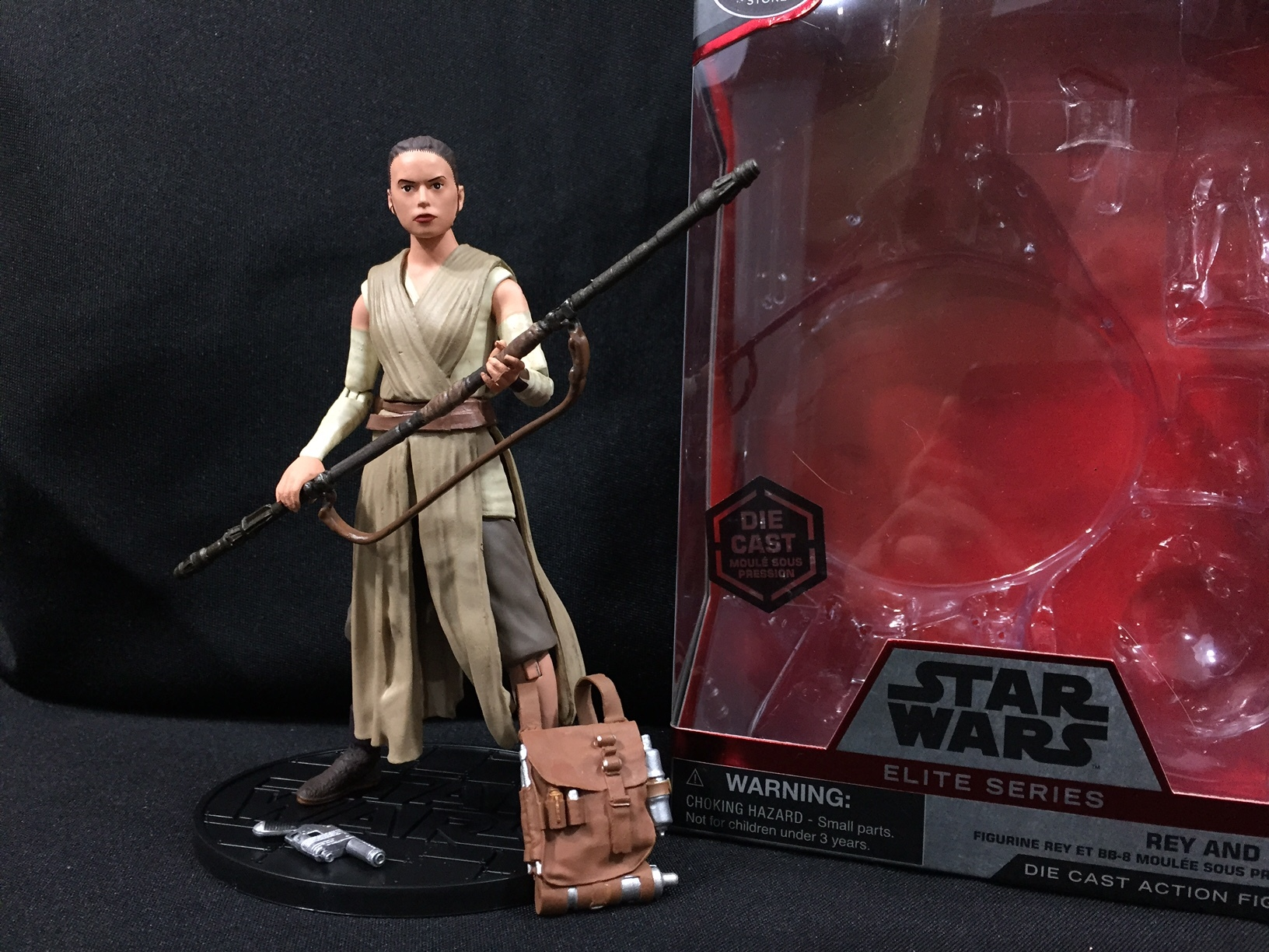 Opened Disney Elite Series Rey