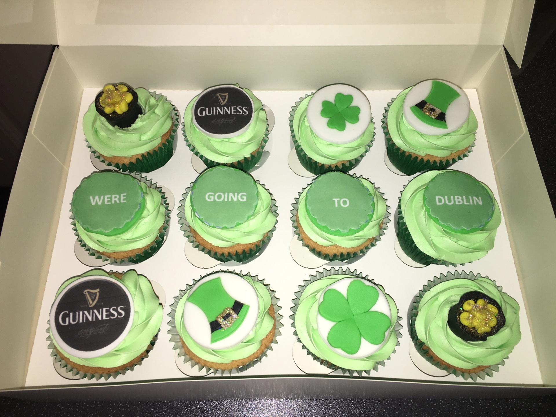Irish themed cupcakes