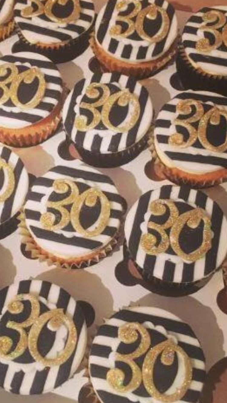 30th Birthday cupcakes