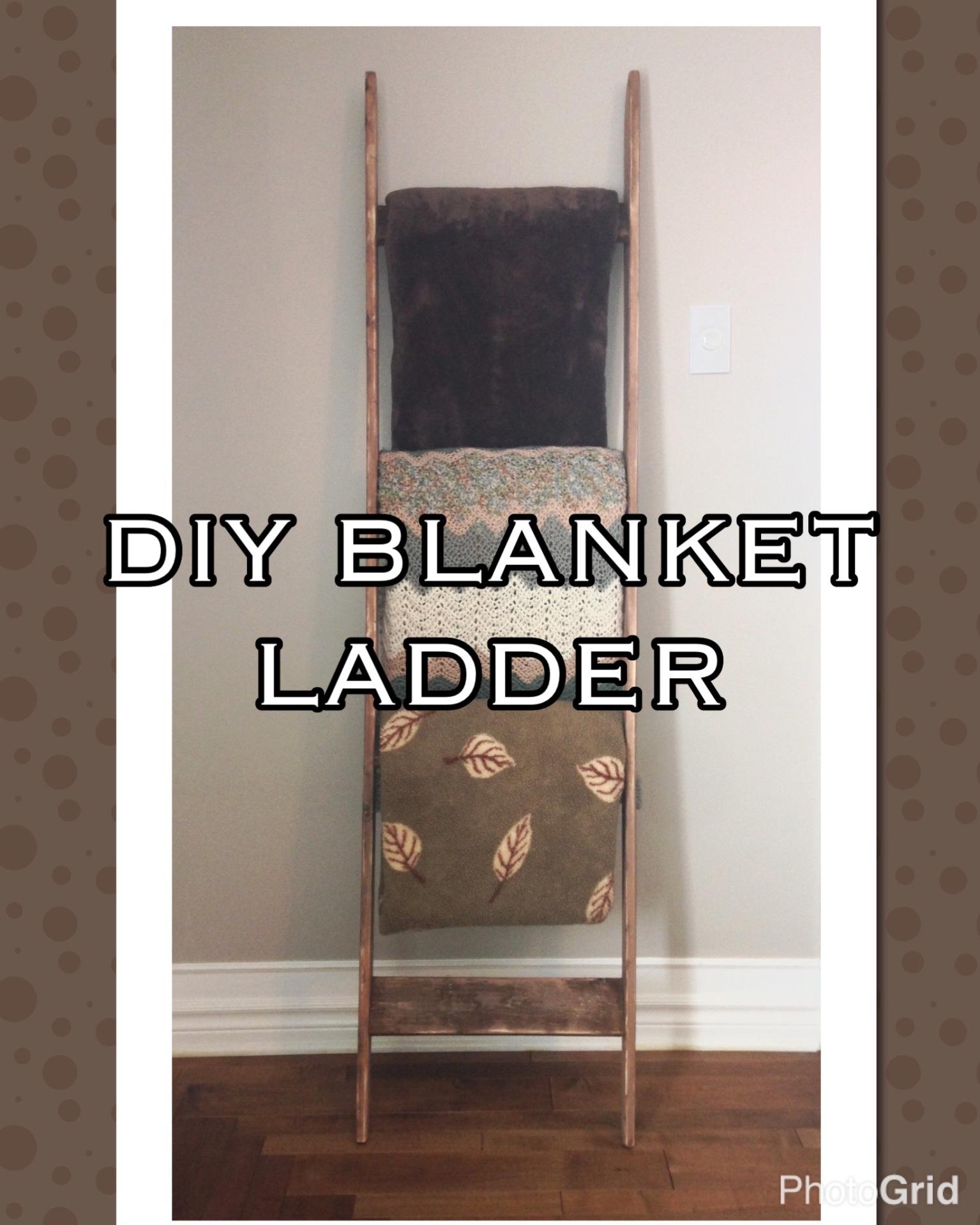 Diy Ladder Pallet Blanket Ladder Diy Stain
