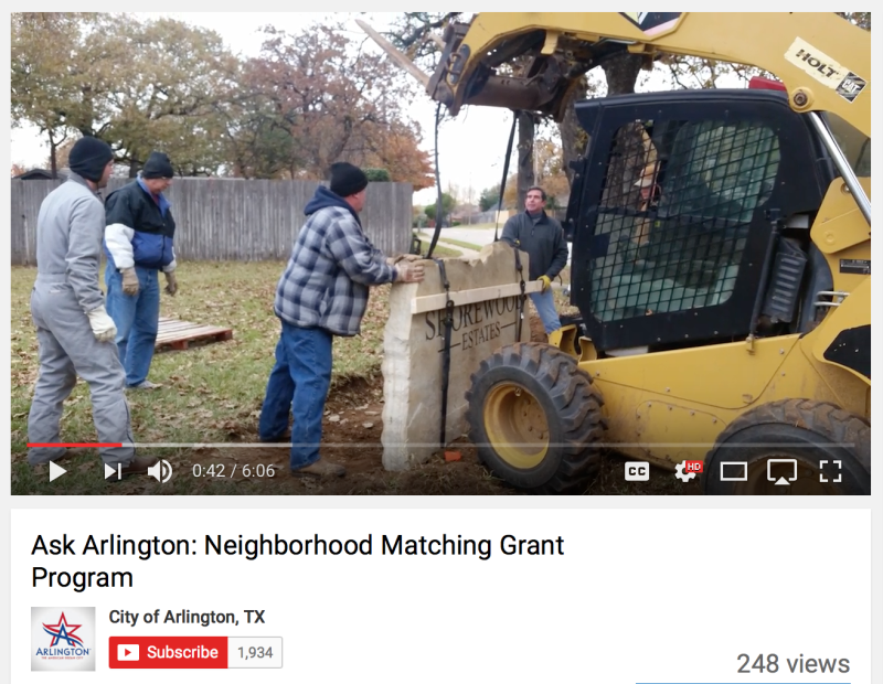 Ask Arlington : Neighborhood Matching Grant Program
