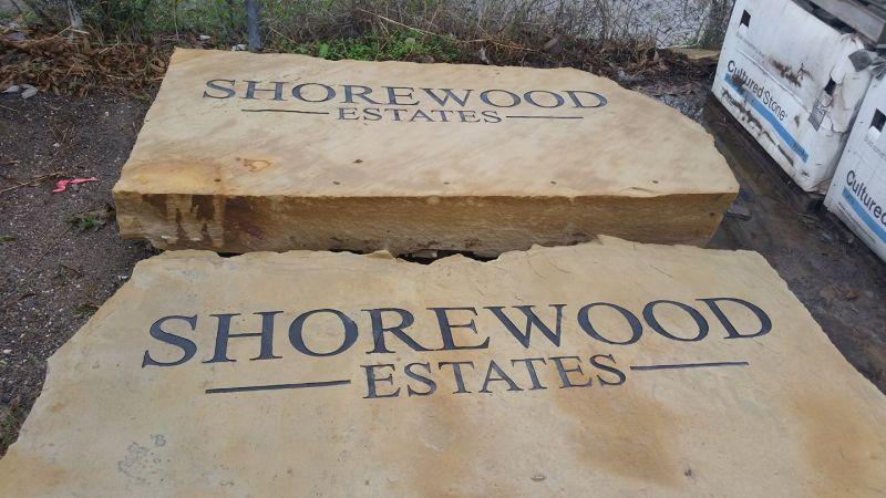 Shorewood Estates Entrance Cornerstone Project