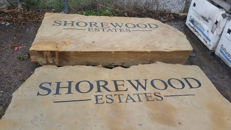 Shorewood Estates Entrance Cornerstone Project