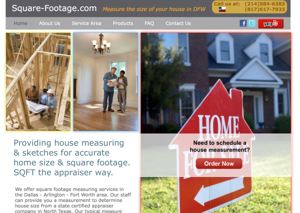 Square-Footage.com  |   Measure the size of your house in DFW