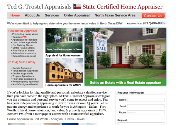 Ted G. Trostel Appraisals    |    State Certified Home Appraiser