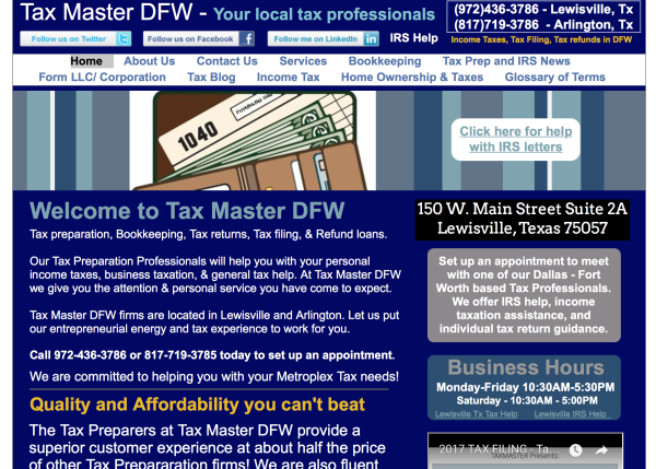 Tax Master DFW | Your local tax professionals