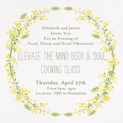 Elevate The Mind Body & Soul Cooking Class