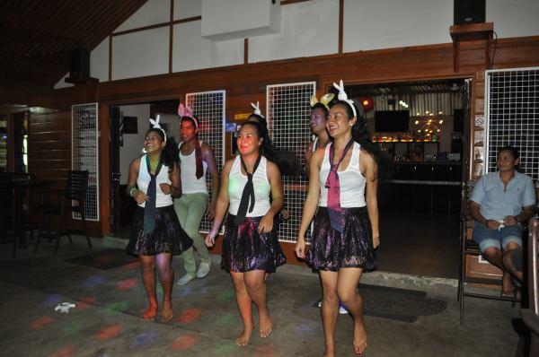 Staff dance group