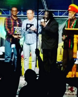 Mr.Claude Sinclair founder/Ambassador of Peace & MP'S  Dr. Lynvale Bloomfield, Mr.Daryl Vaz, Heru Ishakamusa Menelik