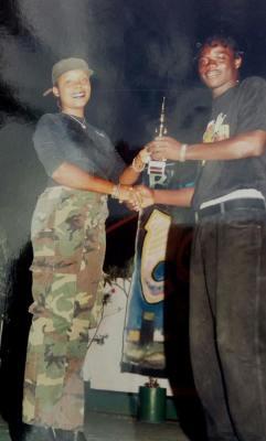 Mojiba Ase a judge @ Talent Show1999 Doctor Bird Night Club.