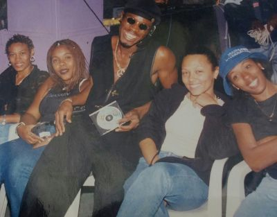 Mojiba Ase, Paulette, L.A.Lewis, Richelle & June. 1999 Judges @ Talent Show at Doctor Bird Night Club.