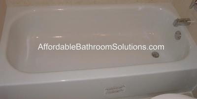 Porcelain Enamel Over Steel Bathtub