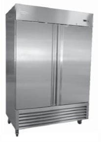 RR-2-35 2 Door Stainless Steel Refrigerator