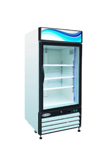 GR-12 1Glass Door Reach-In Refrigerator 12 cu. ft.